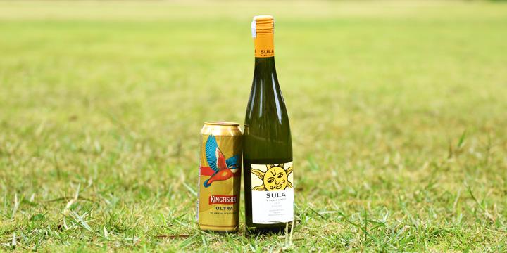 インドのお酒、キングフィッシャー・ウルトラとスーラ・ワイン・リースリング