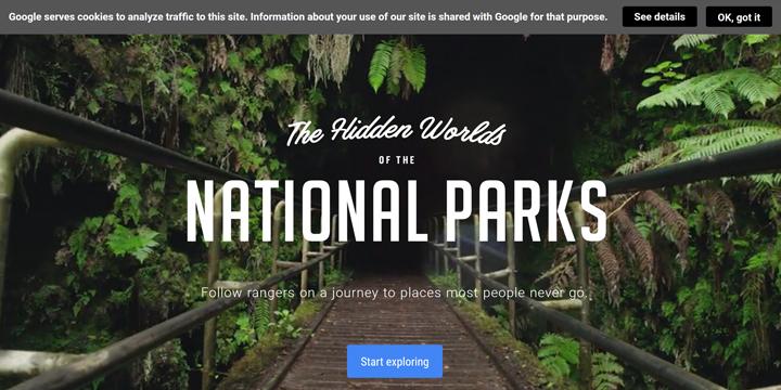 360度動画を使ったVRコンテンツでアメリカの国立公園を楽しむ