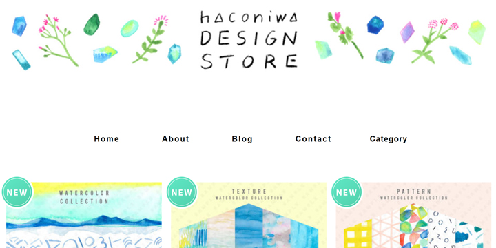 商用利用ok手書きイラスト素材が手に入る Haconiwa Design Store
