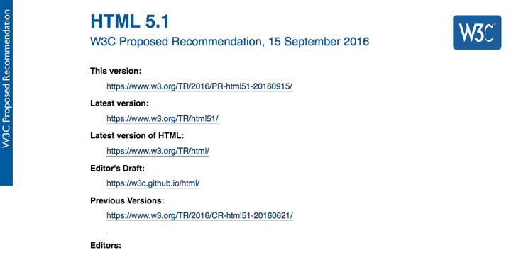 HTML5.1の仕様書