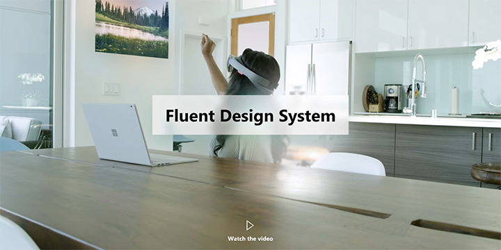新デザイン言語の「Fluent Design」