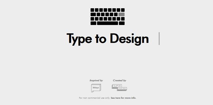 オシャレなタイポグラフィを自動で作る type to design webデザイン