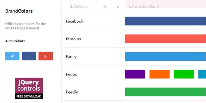 いろんな企業のオフィシャルカラーがわかる「BrandColors」