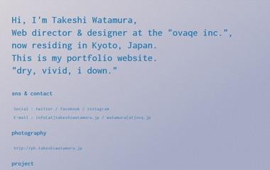 TAKESHI WATAMURA | 綿村 健