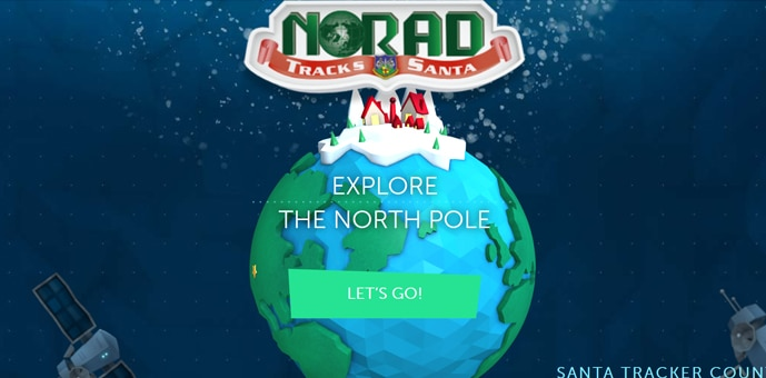 NORAD Tracks Santa(サンタ追跡サイト)