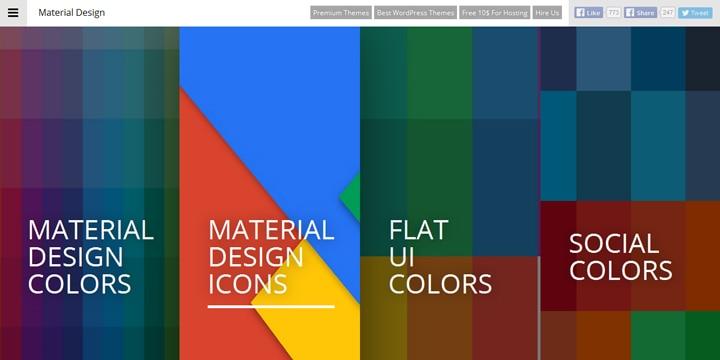 マテリアルデザインの色とアイコンが探せる「Material Design Colors」