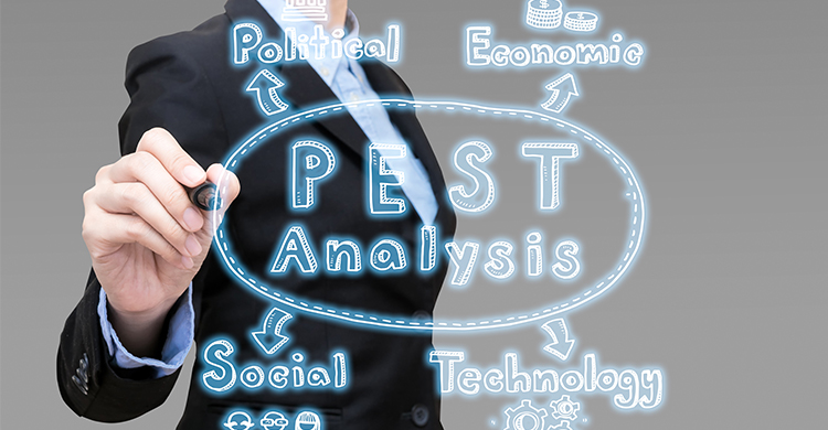 Webマーケティング|フレームワーク「PEST分析」の意味・方法とは?