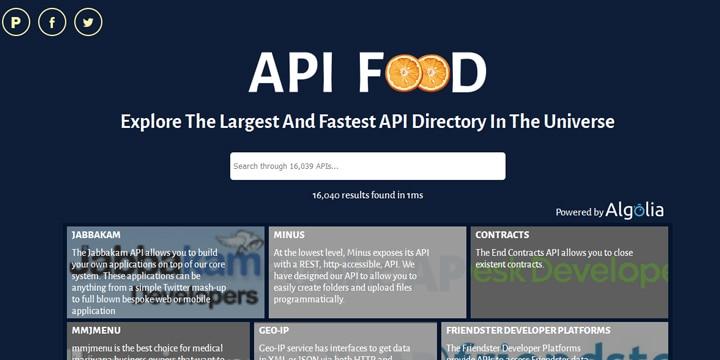 使いたいAPIがすぐに見つかる「API Food」