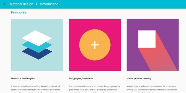 Google公式ページで解説されているマテリアルデザイン